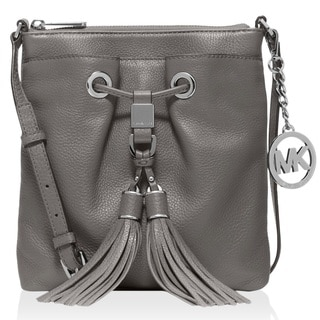 Michael Kors Camden Drawstring Steel Grey Crossbody Handbag