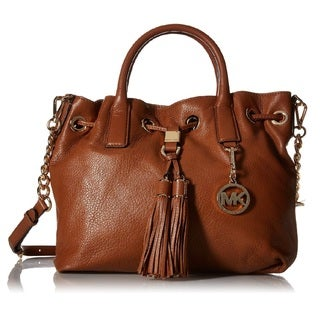 Michael Kors Camden Leather Luggage Brown Top-Handle Satchel Handbag