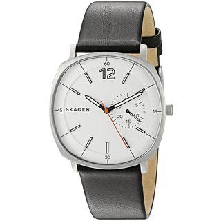 Skagen Men's SKW6256 'Rungsted' Black Leather Watch