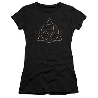 Charmed/Triple Linked Logo Junior Sheer in Black