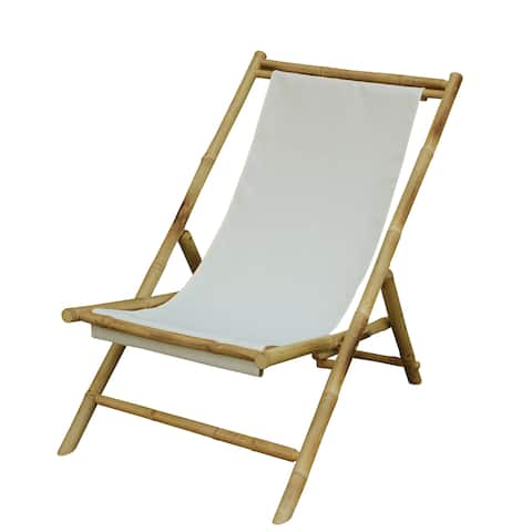 Havenside Home Sakami Handcrafted Foldable Bamboo Sling Patio Chair