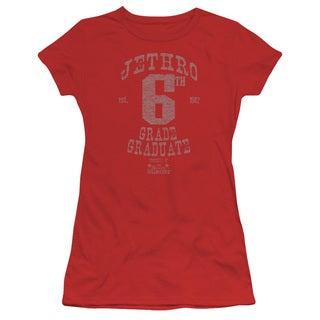 Beverly Hillbillies/Mr 6Th Grade Grad Junior Sheer in Red