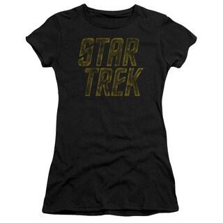 Star Trek/Distressed Logo Junior Sheer in Black