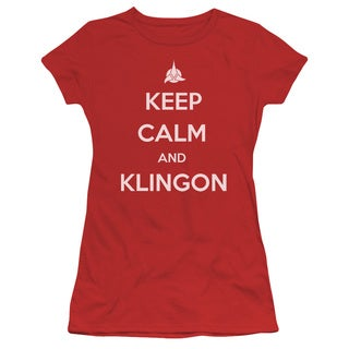 Star Trek/Calm Klingon Junior Sheer in Red