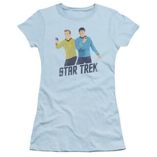 Star Trek/Phasers Ready Junior Sheer in Light Blue