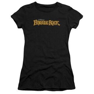 Fraggle Rock/Logo Junior Sheer in Black in Black