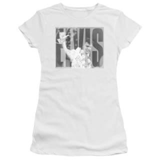 Elvis/Aloha Gray Junior Sheer in White