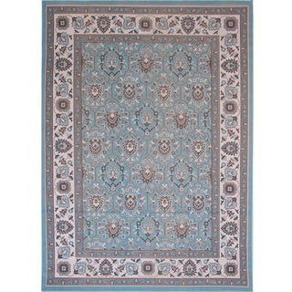 Home Dynamix Somerset Collection Contemporary Aqua Area Rug (7'9 x 10'2)