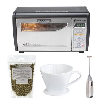 Behmor 1600 Plus Customizable Drum Coffee Roaster + Unroasted Coffee Beans & Accessory Bundle