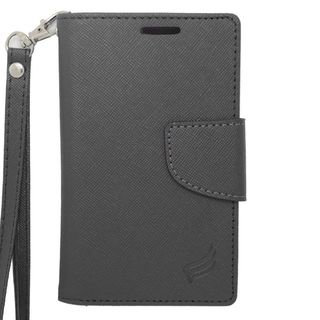 Insten Black Leather Case Cover For Alcatel One Touch Evolve 2/ Evolve 5020T Apple iPhone 5/ 5C/ 5S Coolpad Rogue