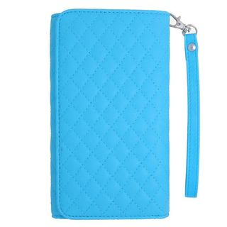 Insten Light Blue Leather Case Cover For Alcatel One Touch Fierce XL/ Idol 3 (5.5) iPhone 6 Plus/ 6s Plus Huawei Raven LTE