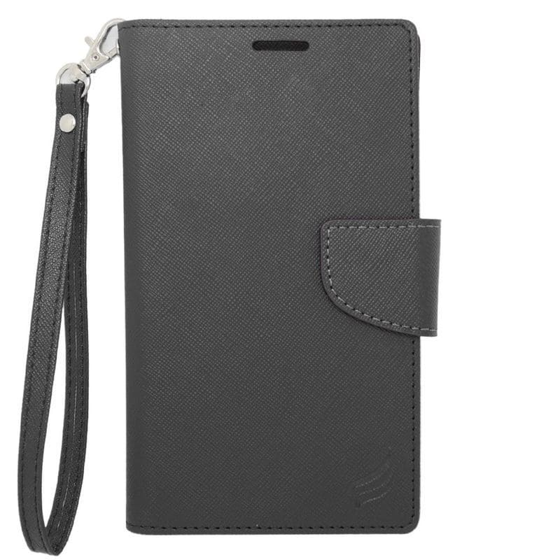 Insten Black Leather Case Cover For Alcatel One Touch Ele...