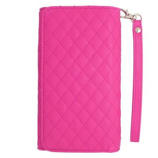 Insten Hot Pink Leather Case Cover For Alcatel One Touch Elevate/ Pixi 3 (4.5) BlackBerry Z10 HTC Desire 520 Windows Phone 8X