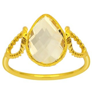 Orchid Jewelry 14k Yellow Gold Plated 2 3/5ct. Citrine Birthstone Ring