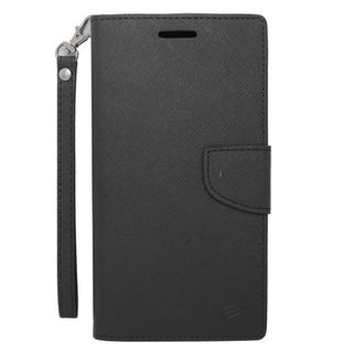 Insten Black Leather Case Cover Lanyard with Stand/ Wallet Flap Pouch/ Photo Display For ZTE ZMax