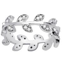 Orchid Jewelry 925 Sterling Silver 3/8ct. TDW Diamond Band