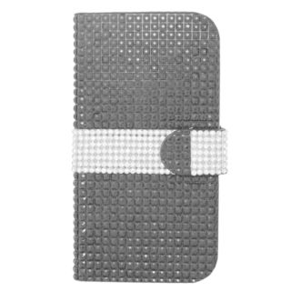 Insten Black/ Silver Leather Rhinestone Bling Case Cover with Wallet Flap Pouch For ZTE Grand X