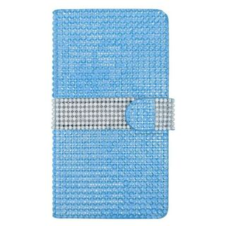 Insten Light Blue/ Silver Leather Rhinestone Bling Case Cover with Wallet Flap Pouch For ZTE Grand X Max
