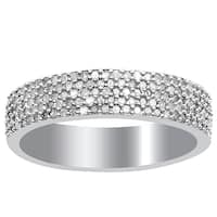 Orchid Jewelry Sterling Silver 1/2ct. Genuine Pave Diamond Engagement Ring