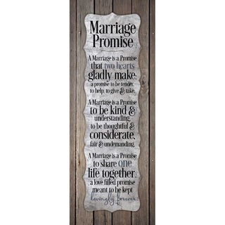 NA 'Marriage Promise' New Horizons Wood Plaque