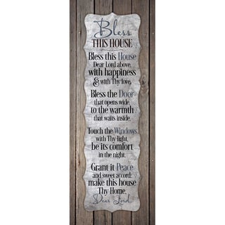 'Bless This House...' New Horizons Wood Plaque