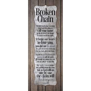 """""""Broken Chain..."""" New Horizons Wood Plaque"""