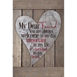 """My Dear Friend..."" New Horizons Wood Plaque"