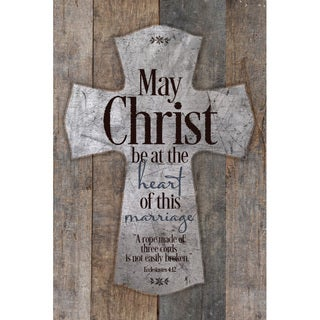 """""""May Christ Be At The Heart Of This Marriage..."""" New Horizons Wood Plaque"""
