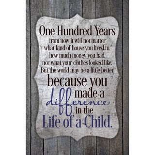 """""""One Hundred Years..."""" New Horizons Wood Plaque"""