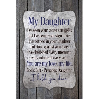 New Horizons 'My Daughter' Wood Plaque