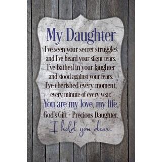 New Horizons 'My Daughter' Wood Plaque