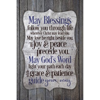 """""""May Blessings Follow You..."""" New Horizons Wood Plaque"""