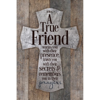 """""""A True Friend Warms You..."""" New Horizons Wood Plaque"""
