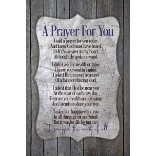 NA Prints 'A Prayer for You' New Horizons Wood Plaque