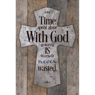 """""""Time Spent Alone With God Is..."""" New Horizons Wood Plaque"""