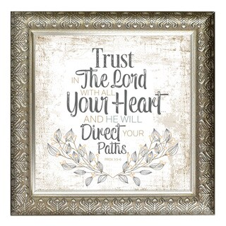 """""""Trust In The Lord"""" Inspirational Moments Framed Art"""