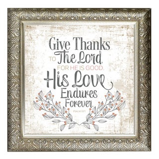 """"""" Give Thanks To The Lord"""" Inspirational Moments Framed Art"""