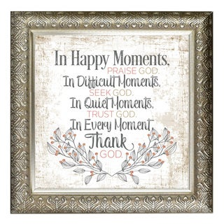 """""""In Happy Moments"""" Inspirational Moments Framed Art"""