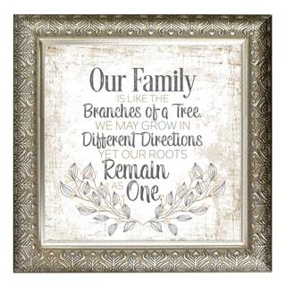 """Our Family"" Inspirational Moments Framed Art"