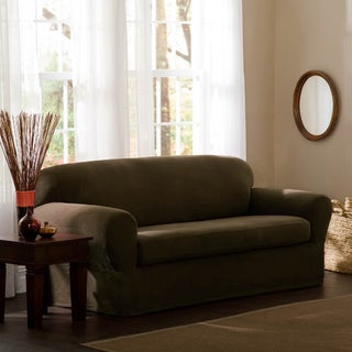 Reeves Stretch 2-piece Sofa Slipcover in Natural (As Is Item)