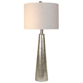 Journee Home 'Silver Cyclone' 29-inch Modern Glass Cone Table Lamp