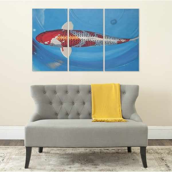 Shop Safavieh Go Fish Triptych Canvas Wall Art On Sale Free