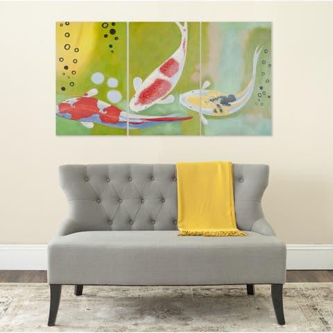 Safavieh Beneath The Sea Triptych Canvas Wall Art