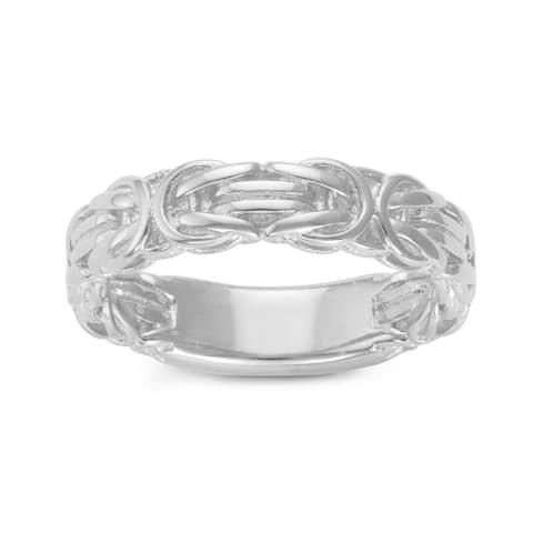 Gioelli Sterling Silver Byzantine Eternity Band Ring