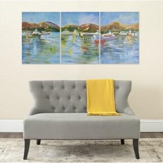 Safavieh Sailors Cove Triptych Canvas Wall Art