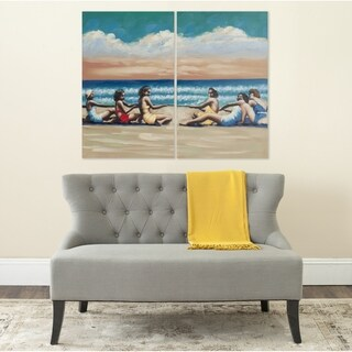 Safavieh Swim Competition Diptych Canvas Wall Art