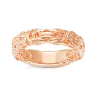Gioelli Rose Gold over Silver Byzantine Eternity Band Ring