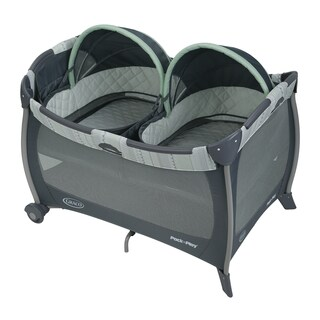 Graco Pack 'n Play Mason Multicolor/Grey Plastic Playard Napper with Twins Bassinet