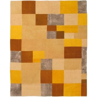 ecarpetgallery Abstract-patterned Handwoven Wool Kilim Rug (6'7 x 8'2)