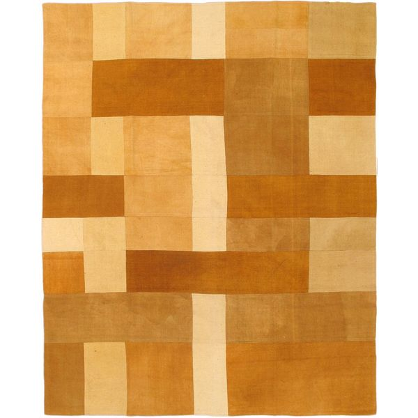 ecarpetgallery Hand-woven Beige/Cream Wool Kilim Rug (6'7 x 8'2)